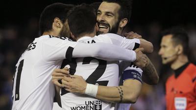 欧联杯-米纳三传两射 瓦伦西亚6-0维也纳快速