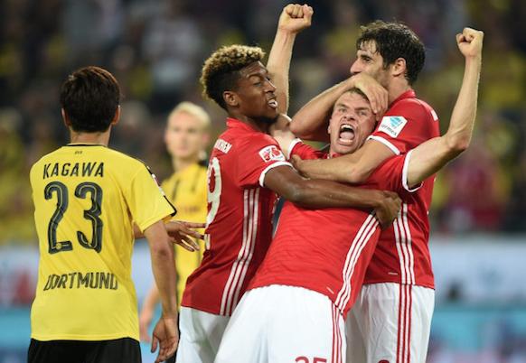 比达尔穆勒建功 拜仁2-0多特夺超级杯