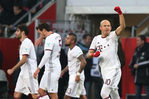 比达尔罗本连入两球 拜仁2-0因戈尔施塔特