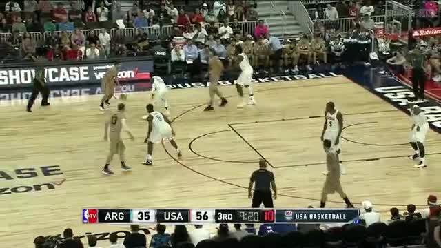 7月23日热身赛 美国男篮vs阿根廷 第三节 录像