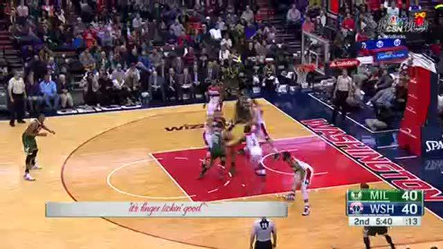 12月27日NBA常规赛 雄鹿vs奇才 第二节 录像