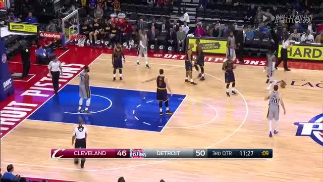 12月27日NBA常规赛 骑士vs活塞 第三节 录像