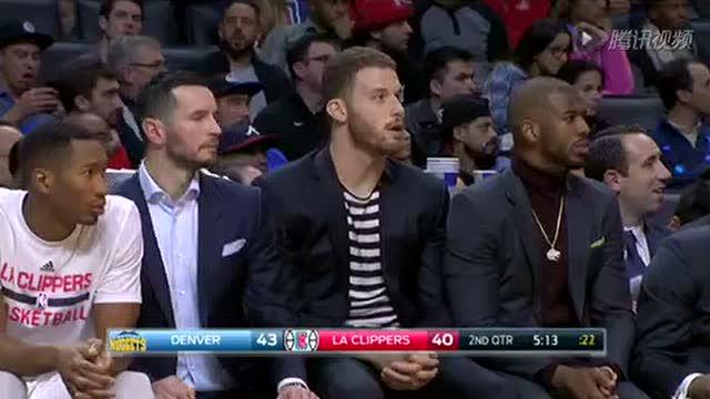 12月27日NBA常规赛 掘金vs快船 第二节 录像