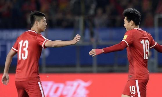 世预赛-姜宁帽子戏法 国足4-0马尔代夫